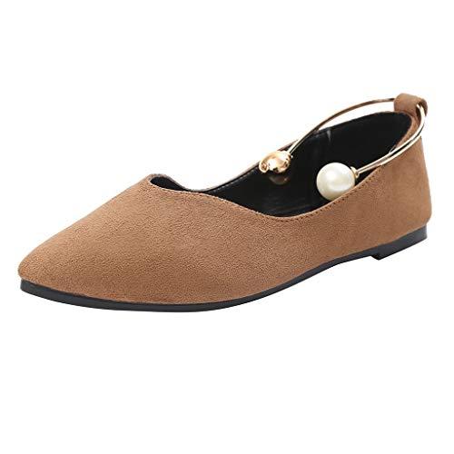 Sunday Damen Schuhe Elegant Sommer Schuhe Flache Ballerina Mokassin Mary Jane Halbschuhe Slip-on Party Schuhe für Hochzeit