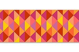 """Frise adhésive,"""" 4 pièces triangle 560 x 15 cm-deco fun, frise bordure décoration murale motif fleurs"""