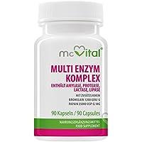 Multi Enzym Komplex - enthält Amylase, Protease, Lactase, Lipase - mit zusätzlichem - Bromelain 1200 GDU g - Papain... - preisvergleich