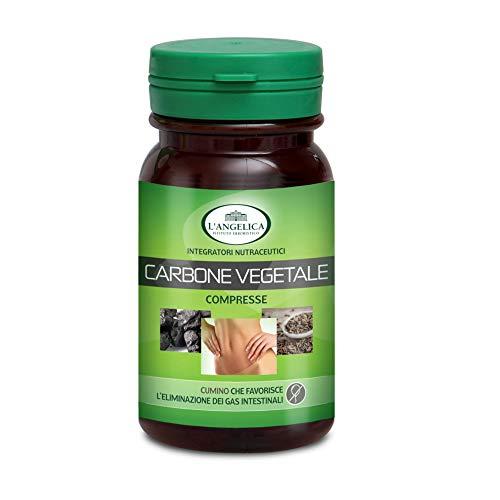 L\'Angelica Carbone Vegetale, 75 compresse, Totale: 45 gr - [pacco da 3]
