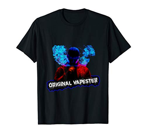 Original Vapester Vapor Blowing Smokers E-Cig Vaping T Shirt T-Shirt