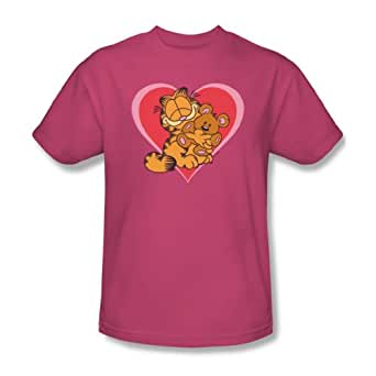 Garfield - - Peluches mignon 'N' T-Shirt adulte en rose, XXX-Large, Hot Pink