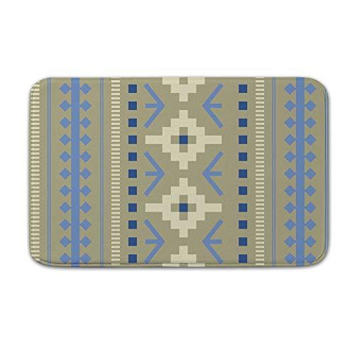 DKISEE Fußmatte für den Innen- und Außenbereich, mit indischem Muster, 2 Stück, Flanell, 20