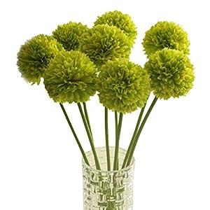 Smonke Wohnaccessoires und dekorative Kunstblumen   Einzelkopf kleine Hortensie Zwiebel Ball künstliche Blume   Büro Hotel Hochzeit Tischdekoration