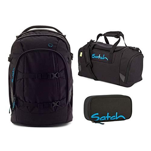 Satch Schulrucksack-Set 3-TLG Black Bounce - Schwarz schwarz