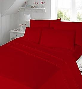 AmigoZone Plain Pollycotton Flat Sheet Or Pillow Cases