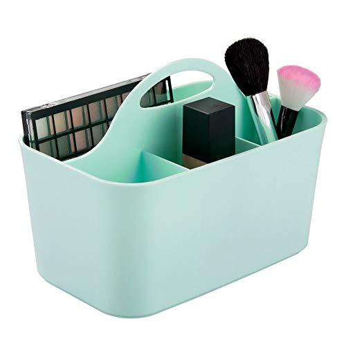 mDesign Kosmetik-Organizer mintgrün - Aufbewahrungsbox mit 4