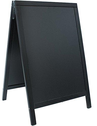 Securit - Tableau à craie chevalet - Finition laquée - Noir - 55 x 85 cm (Import Royaume Uni)