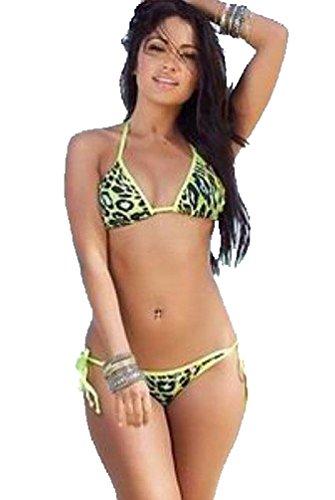"Waooh - Fashion - Badeanzug 2 Stück Leoparden ""Cathy"" Gelb"
