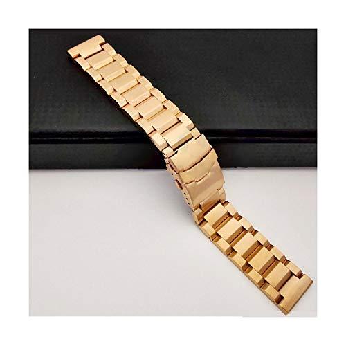 Schwarzes Uhrenarmband aus 4Edelstahl 18 20 22 Henziy-Uhrband-Straps14583 Uhrenarmbänder 24 mm Edelstahl-Uhrenarmbänder Uhrband massivem