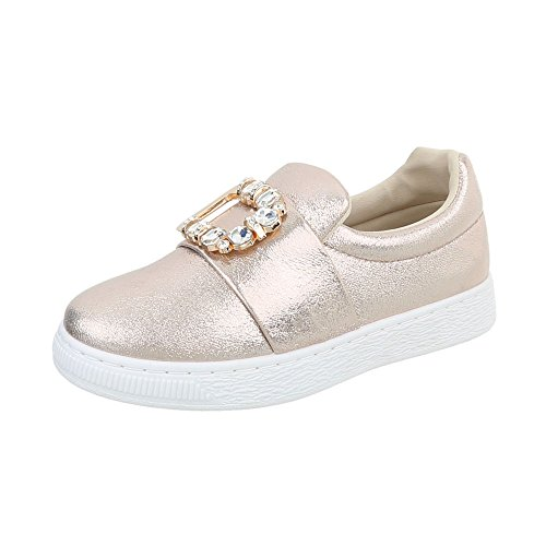 Sneakers Ital-design Basse Sneakers Da Donna Sneakers Basse Scarpe Casual Oro
