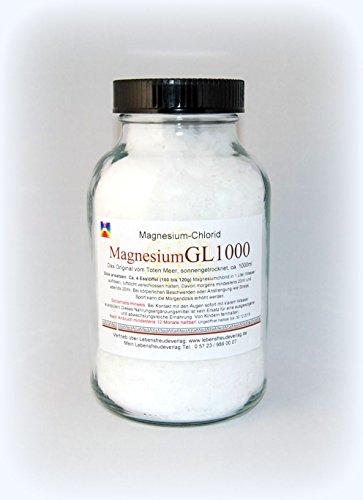 Magnesium-Chlorid-Granulat 1000ml Weithalsglas - Das Original vom Toten Meer - Keine Chemie!