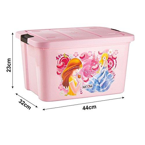 Nayasa Plastic Toy Box, Small, Pink