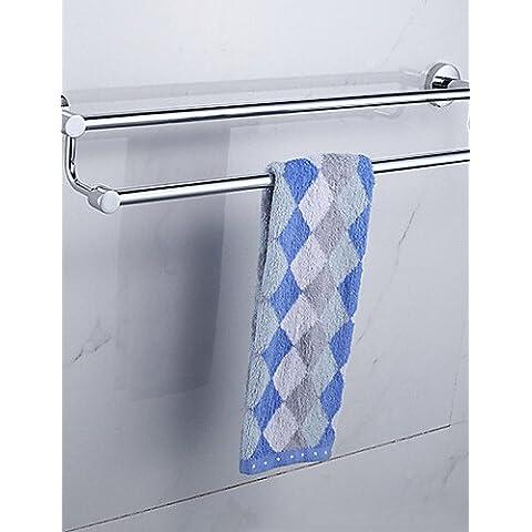 Acero inoxidable cromado contemporánea Parallels montado en la pared calentador de toallas