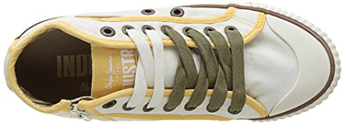 Pepe Jeans Damen Industry Basic 17 Sneakers Weiß (Off White)