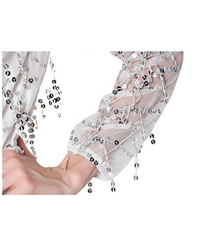 Miugee -  Maglia a manica lunga  - Maniche lunghe  - Donna White