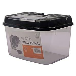 Transportbox Fütterungsbox für Kleintiere + Nager HABITAT 34,5 x 22 x 21,5 cm