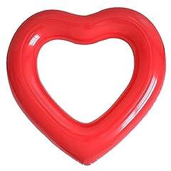 Idea Regalo - Aolvo Gigante Gonfiabile Piscina forma di cuore piscina galleggiante lettino tubi, acqua Fun Beach Party giocattoli per bambini, adulti - rosso