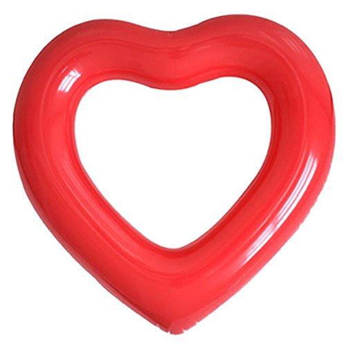 Aufblasbarer Schwimmring Erwachsene Aufblasbar Luftmatratzen Herz-förmige Ein Gewicht von 150kg Tragen