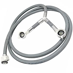 SPARES2GO Y Fill Universal 2.5m Long Washing Machine Twin Inlet Hose from SPARES2GO