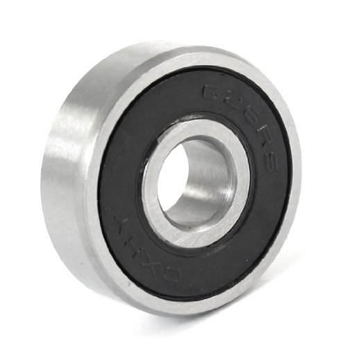 20mm-x-6mm-x-6mm-carbon-steel-626rs-shielded-deep-groove-ball-bearing-black