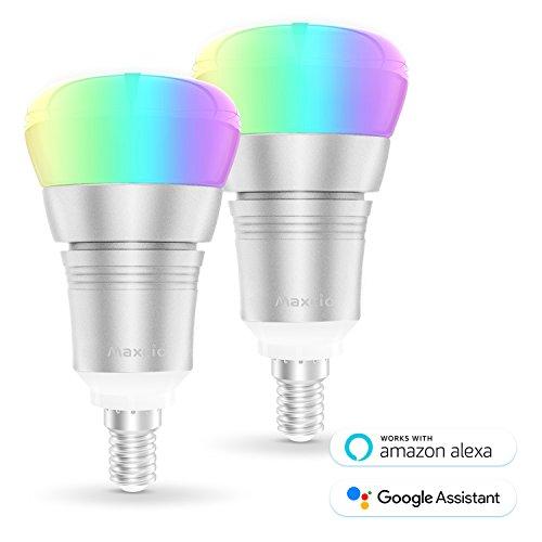 Ampoule Intelligente WiFi, Maxcio Ampoule Connectée...