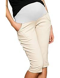 Mija - Capri Denim Maternidad pantalones vaqueros cosechados cortos 9046