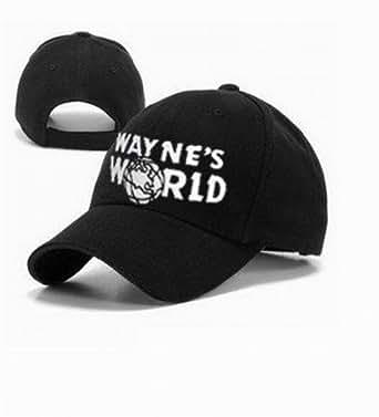 Wayne's World Cap Wayne Campbell Black Hat Costume