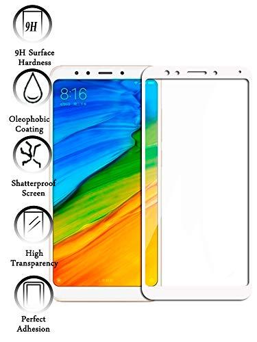 Todotumovil Protector de Cristal Templado Completo 9H para Xiaomi Redmi 5 Plus Elige Color Blanco