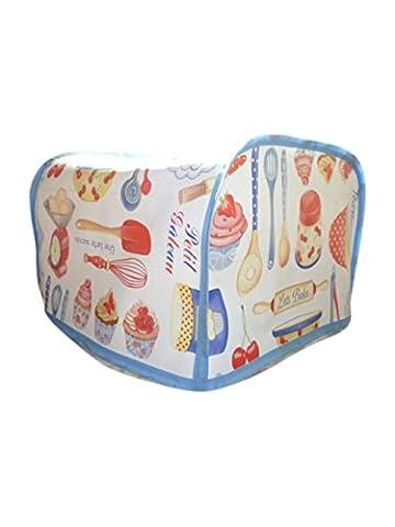 Retro 50s Kitchen Baking PVC Oilcloth 4 Slice Toaster Cover - Morphy Richards, Dualit, De'Longhi Breville