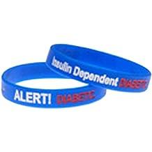 8e5847ff2c3d mediband alerta. Silicona para insulina dependiente diabetes Alert pulsera  grand
