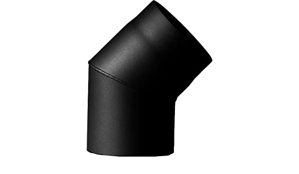 MCT FERRO1410120 Tuyau de po/êle coude /ø 120 mm 45/° rigide sans porte Noir
