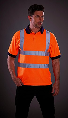 Yoko Herren YK020/hvj210 Hi Vis Short Sleeve Polo Medium Orange Preisvergleich