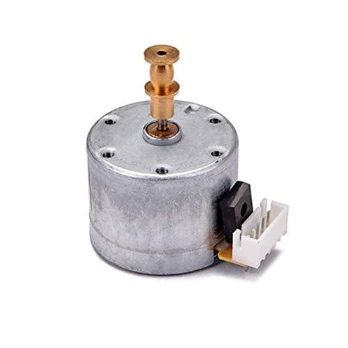 HEALLILY Phonograph Gramophone Motor Replacement Metal Motor Hardware für Vinyl Record Player Zubehör (Silber) 1L03 -