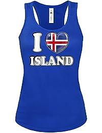 I LOVE ISLAND FANSHIRT - Damen Tank Top Gr.S bis XL