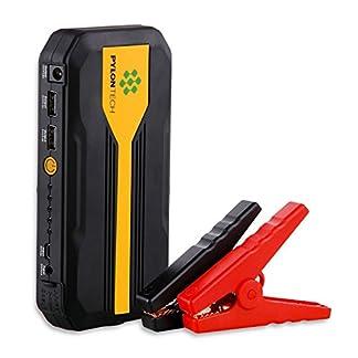 Homelody Arrancador Coche 13600mAh ,500A Jump Starter para la coche 4.0L Gasolina y 2.0L Diesel,Cargador Batería &Power Bank con Puerto de USB y La Linterna LED para Teléfono Móvil y Tableta