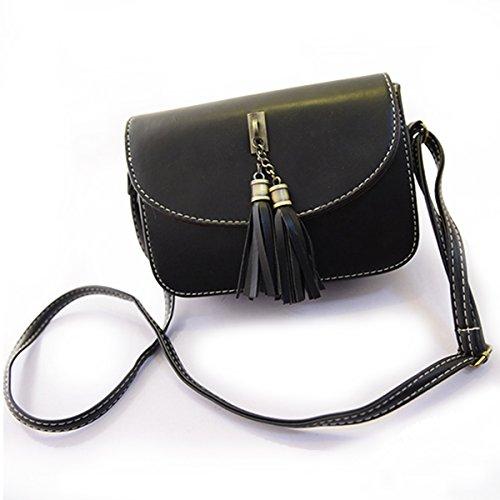 Millya da donna Borsa a tracolla Mini Retro nappa crossbody Borsetta per cellulari Black