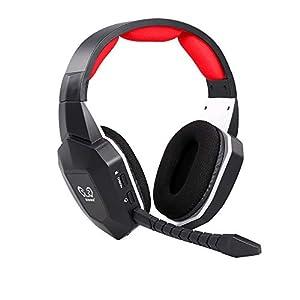 Docooler HUHD Wireless Headset 2,4 Ghz Optischer Stereo Noise Cancelling Gaming Kopfhörer mit 7.1 Surround Sound Abnehmbarer Mic Akku für Mac, für PS3 / 4, für Xbox One, für Xbox 360, TV, PC