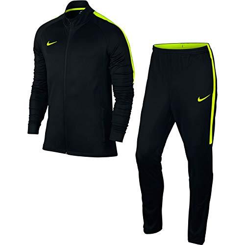 Nike Men's Dry Academy Football Tracksuit, Tuta Uomo, Nero/Giallo Black/Volt, M