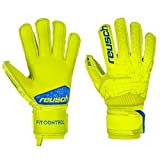 Reusch Fit Control SG Extra Finger Support - Guanti da Portiere da Uomo, Uomo, 3970830, Lime/Safety Yellow, 8.5
