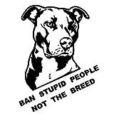 Dandeliondeme Ban dumme Menschen Nicht die Rasse Bulldog Auto Motorrad Aufkleber Decal Dekoration Anzug für Ford Mercedes-Benz BMW Volkswagen Passat Audi Diesel Cabrio Schwarz