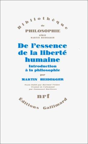De l'essence de la liberté humaine: Introduction à la philosophie