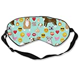 Pitbull Mixed Birthday Party Dog Breed Bluish 100% Silk Sleep Mask Comfortable Non-Toxic, Odorless and Harmless,Soft Blindfold Eye Mask Good for Travel and Sleep
