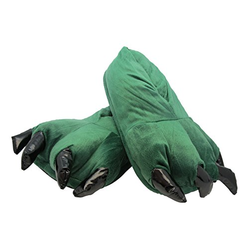 Plüsch Tier Hausschuhe für Erwachsene - Drachen - M (Frau Drache Kostüm)
