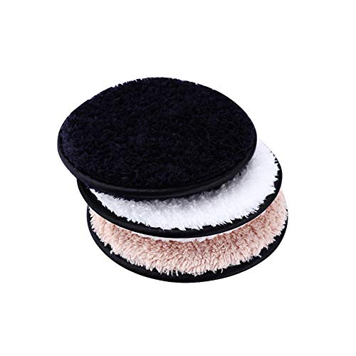 Makeup Remover Pads 3pcs Wiederverwendbare Gesichts-Make Up Entfernen Wipes Waschbar Runden Towelettes Makeup Remover Puff