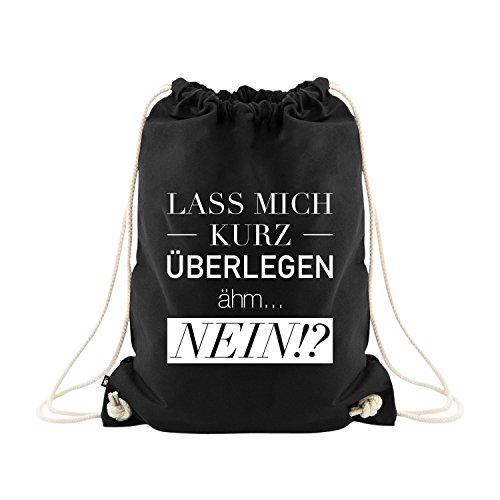 VISUAL STATEMENTS Sportbeutel - bedruckter Beutel mit Spruch - eine schöne Sport-Tasche; aus hochwertigen Materialien - Beutel mit Kordeln...