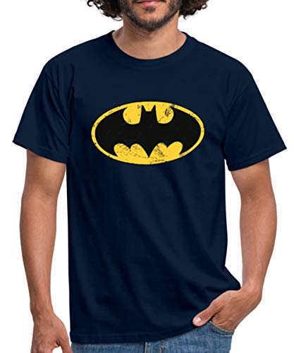 Spreadshirt DC Comics Batman Logo Used Look Männer T-Shirt, XL, ()