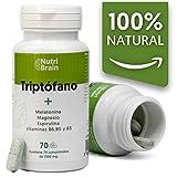 Natural Triptófano con Melatonina y Espirulina | 70 Comprimidos |...