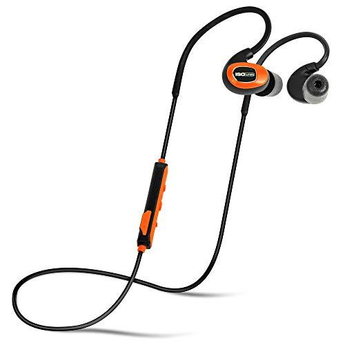 ISOtunes PRO Bluetooth Earplug Kopfhörer, 27 dB Rauschunterdrückung Bewertung, 10-Stunden-Batterie, Noise Cancelling Mikrofon, OSHA konform Bluetooth Gehörschutz (Sicherheit Orange)