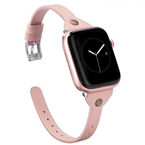 Wearlizer für Apple Watch Armband 38mm 40mm, Edelstahl Metall iWatch Straps Ersatzband Uhrenarmband Wristband Zubehör für Apple Watch Serie 4 / Serie 3 / Serie 2 / Serie 1 - Series 4&3 Gold